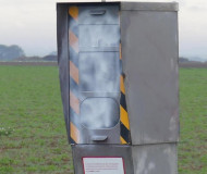 French speed camera with white paint